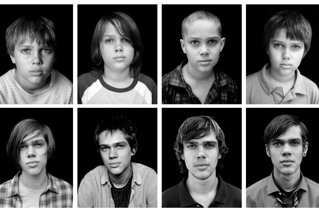 "The many faces of Ellar Coltrane in Richard Linklater's ""Boyhood""."