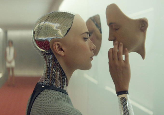 "Alicia Vikander plays Ava in ""Ex Machina"""