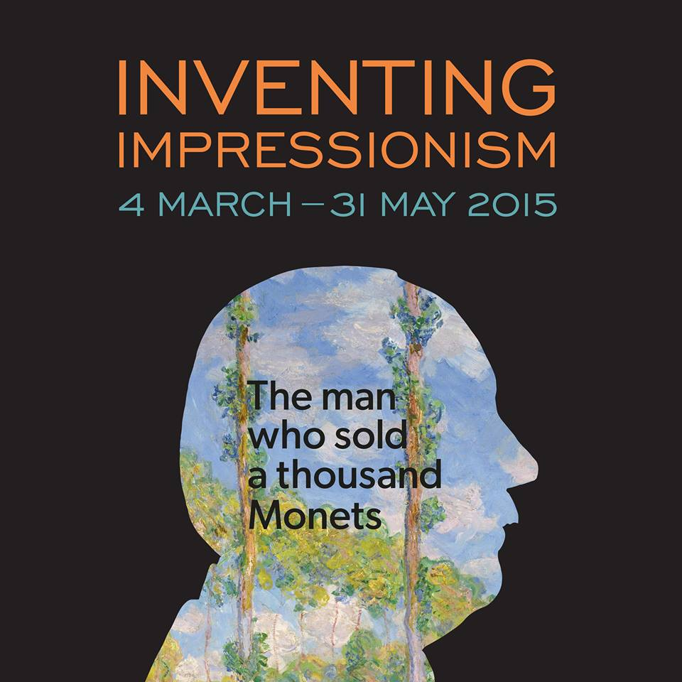 Poster for the exhibition 'Inventing Impressionism', on display at The National Gallery until 31 May.