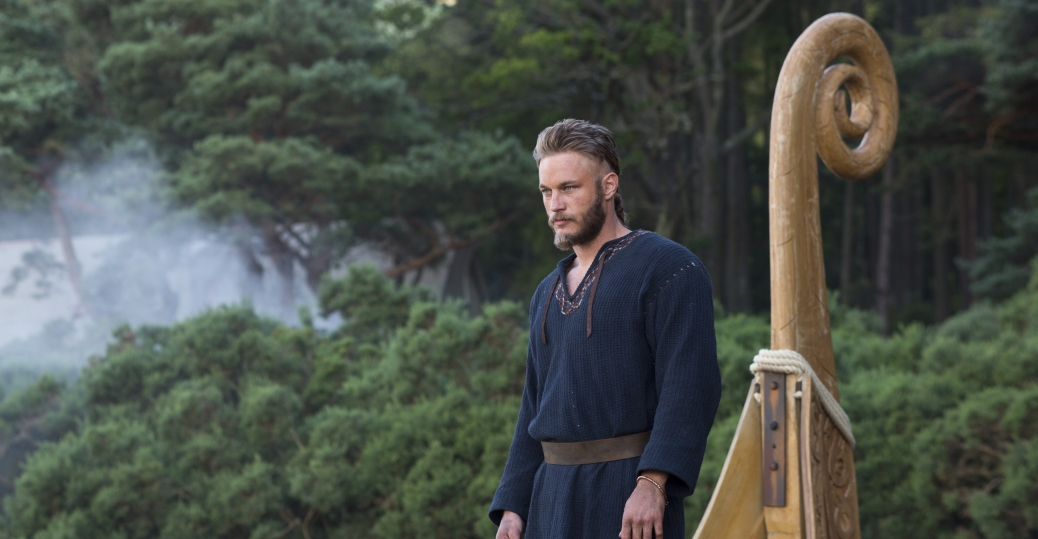 "From Episode 1x1, ""Rites of Passage"": Ragnar, played by Travis Fimmel (Photo credit: Jonathan Hession)."