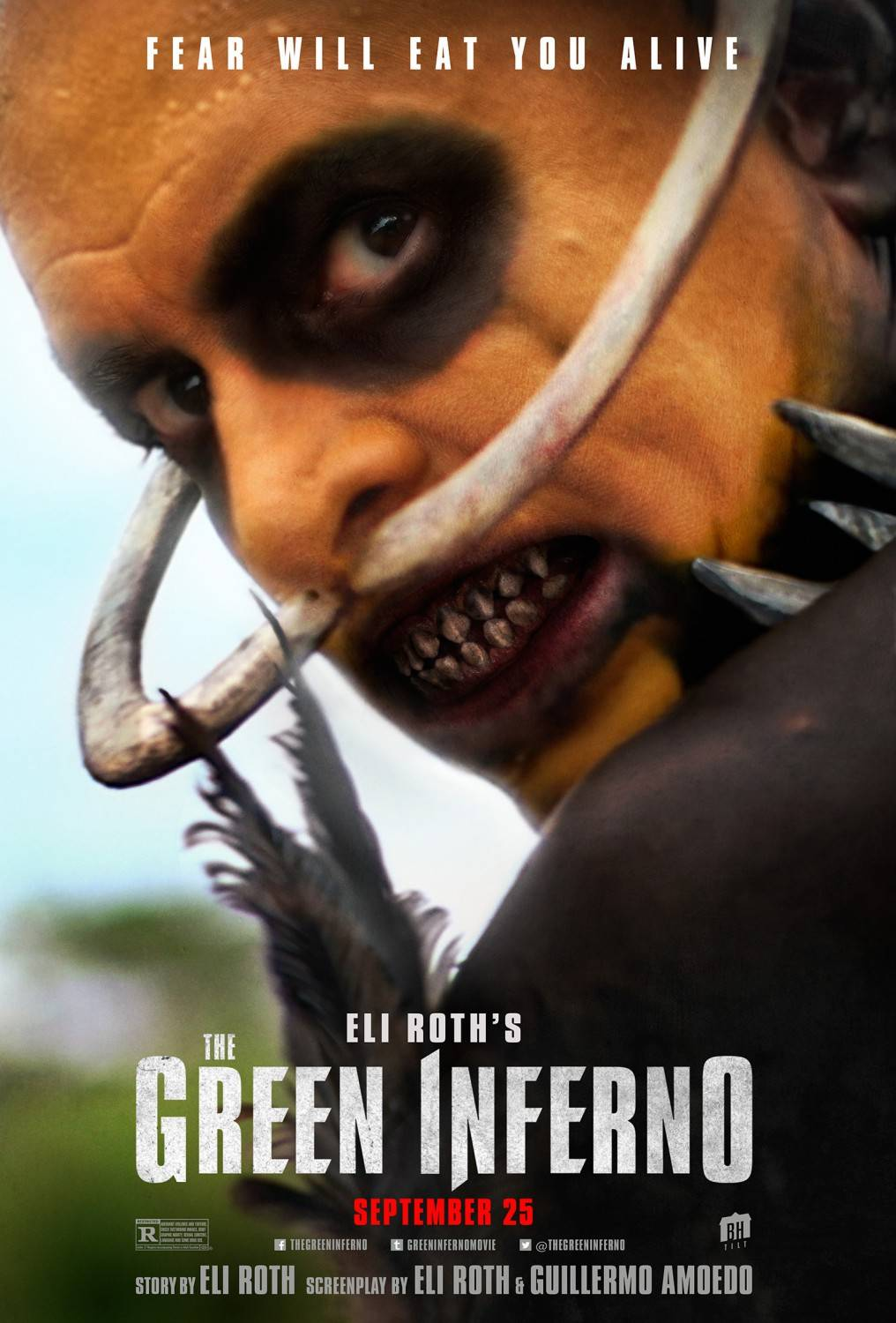 "Final poster for Eli Roth's film ""The Green Inferno""."