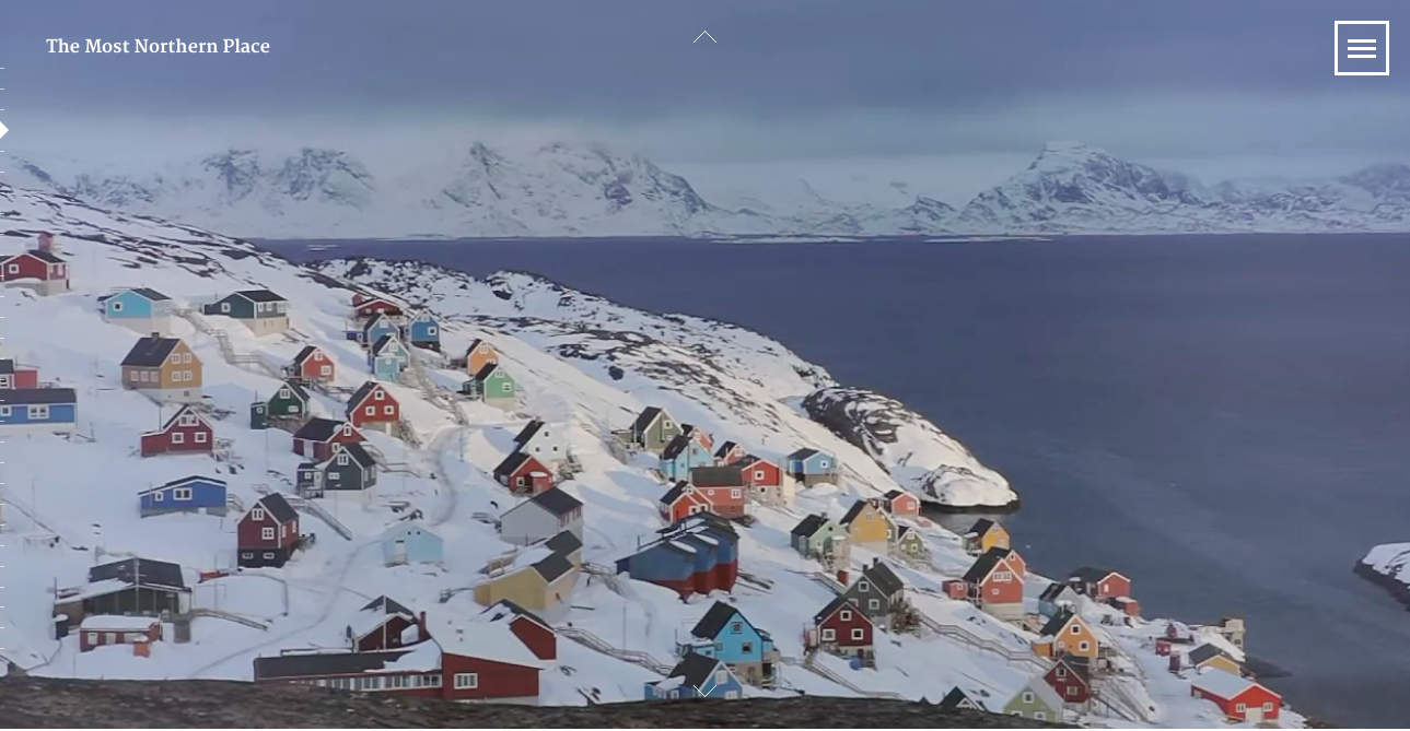 "Screenshot of the interactive documentary ""The Most Northern Place"""