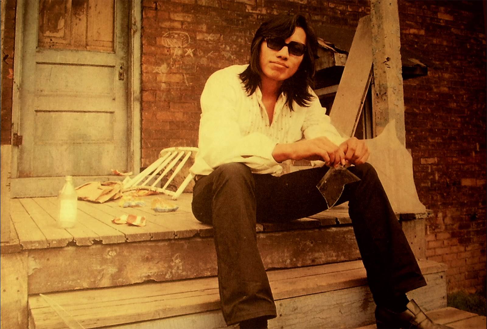 "American folk singer Sixto Rodriguez as featured in the photo for the cover of ""Coming from Reality"", his second and final studio album."