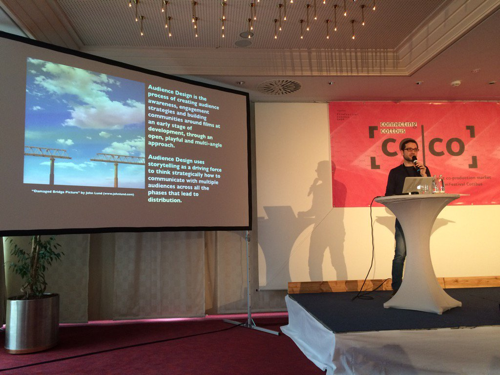 Introducing Audience Design at Connecting Cottbus 2015. Photo courtesy of digital agency Alphapanda.