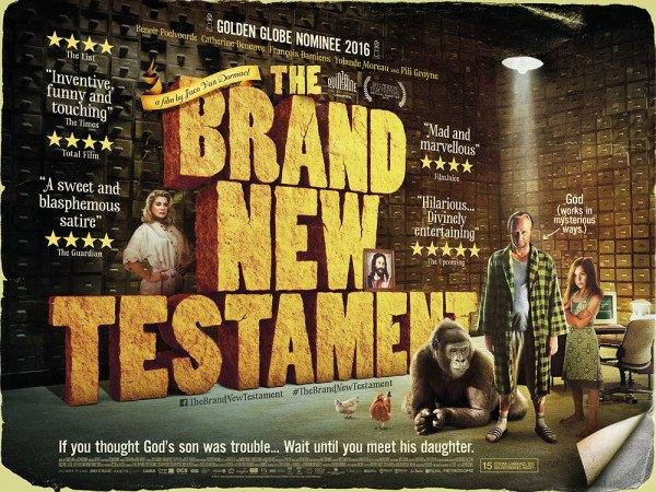 """UK poster for """"The Brand New Testament"""""""