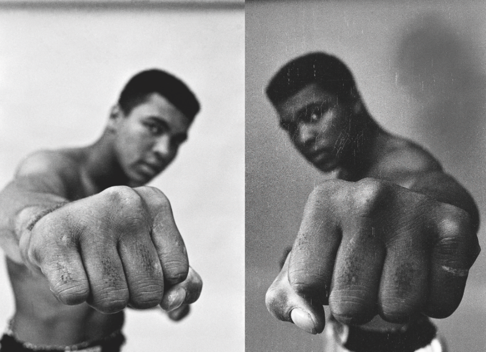 """Ali Left & Right Fist"", 1966, © Thomas Hoepker, courtesy Bildhalle"
