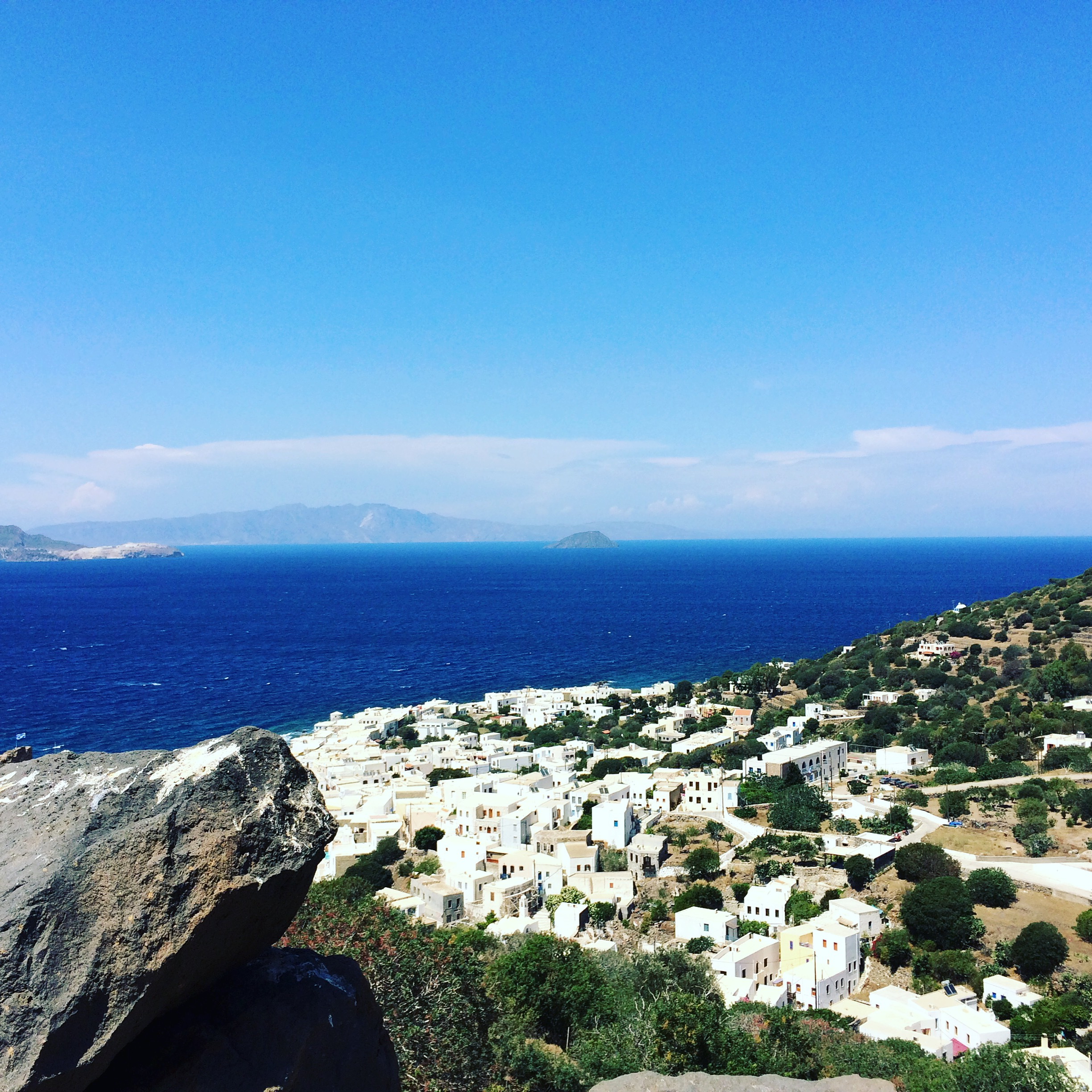 The village of Mandraki on the Greek island of Nisyros, where the first session of the workshops takes place.