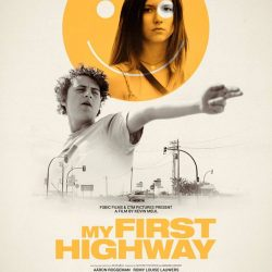 """Official poster for Kevin Meul's debut feature """"My First Highway""""."""