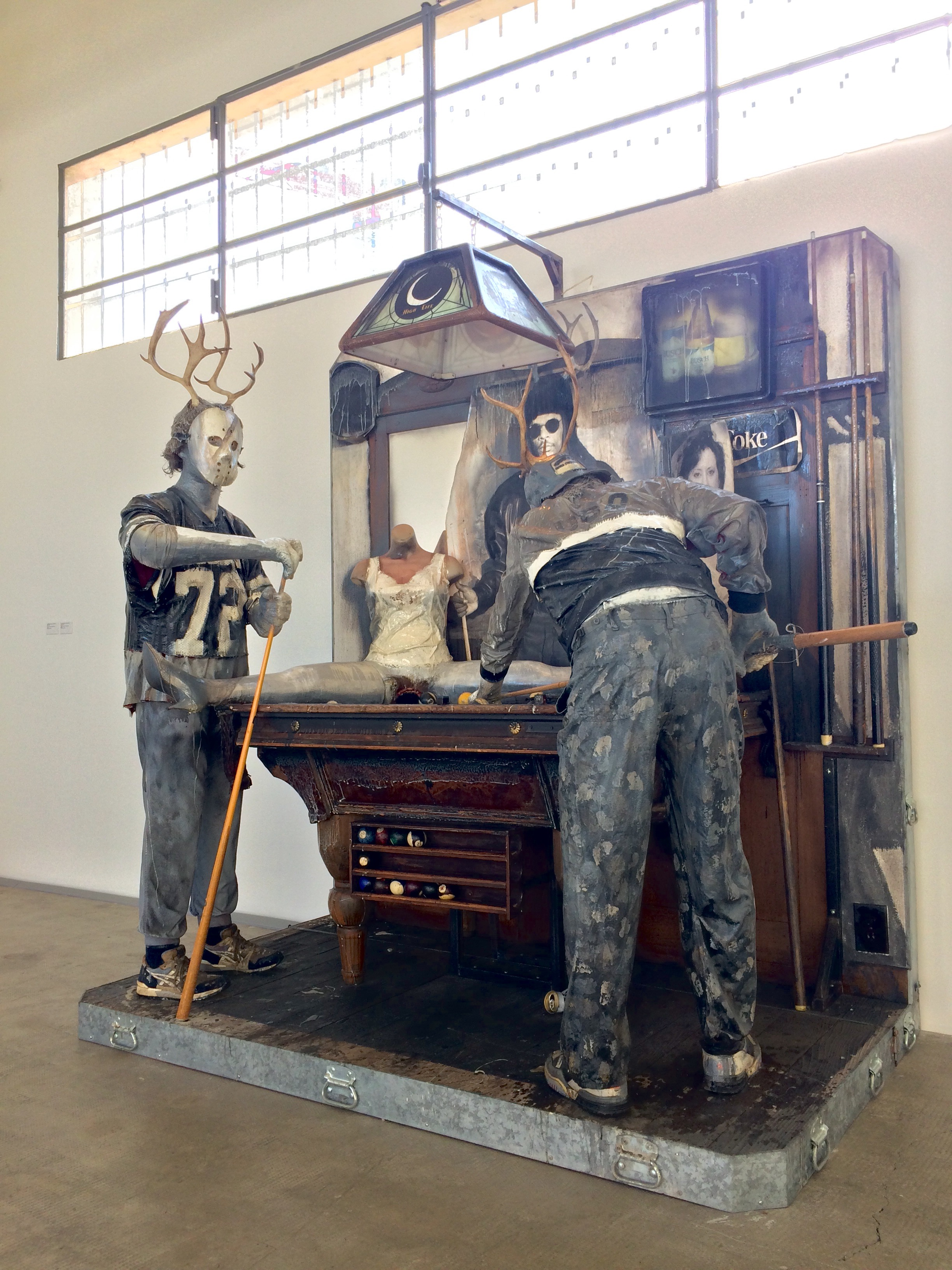 "Edward Kienholz & Nancy Reddin Kienholz, ""The Pool Hall"" (1993). Mixed media tableau. Collection of the artist."
