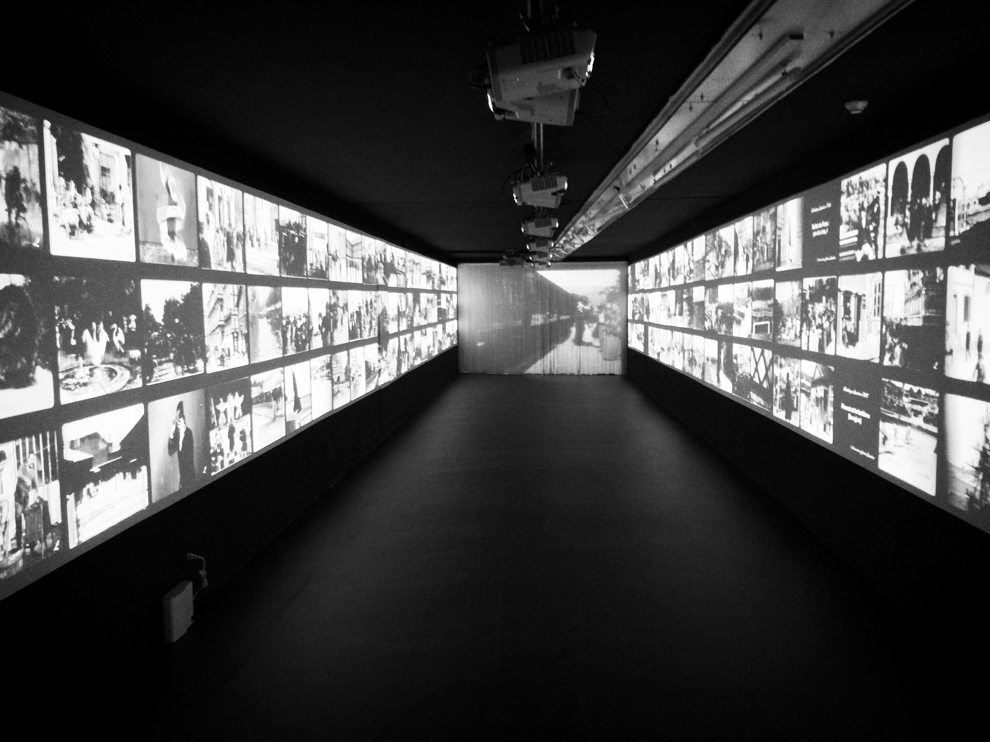 "Lumière Brothers' Films at ""Lumière! The Invention of Cinema"" exhibition."