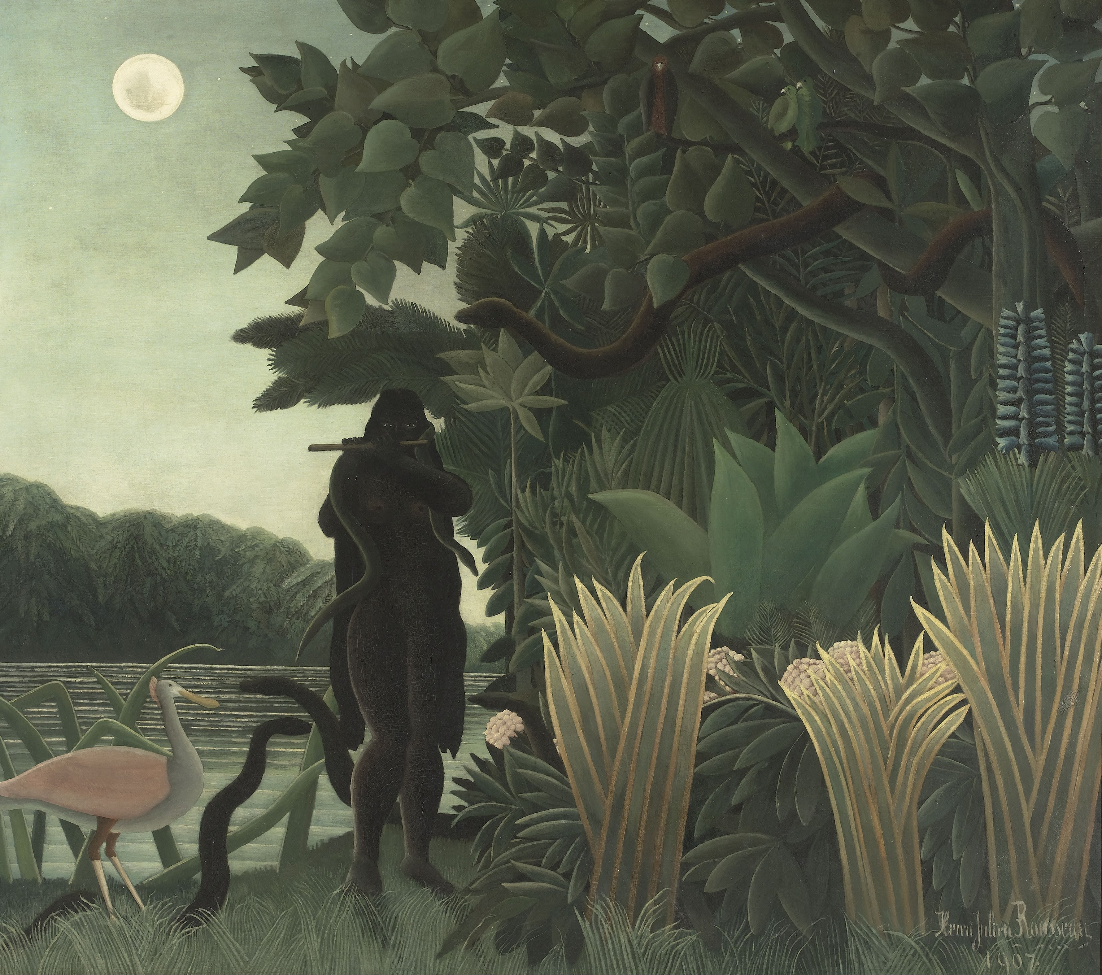 """The Snake Charmer"" by Henri Rousseau (1907)."