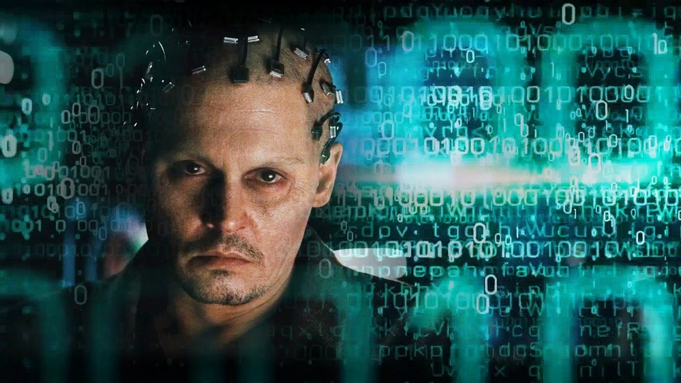 "Johnny Depp as Dr. Will Caster in ""Transcendence""."