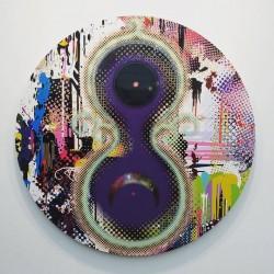 """Takashi Murakami, """"11 – Dimensional Presence"""", 2015, at Blum & Poe."""
