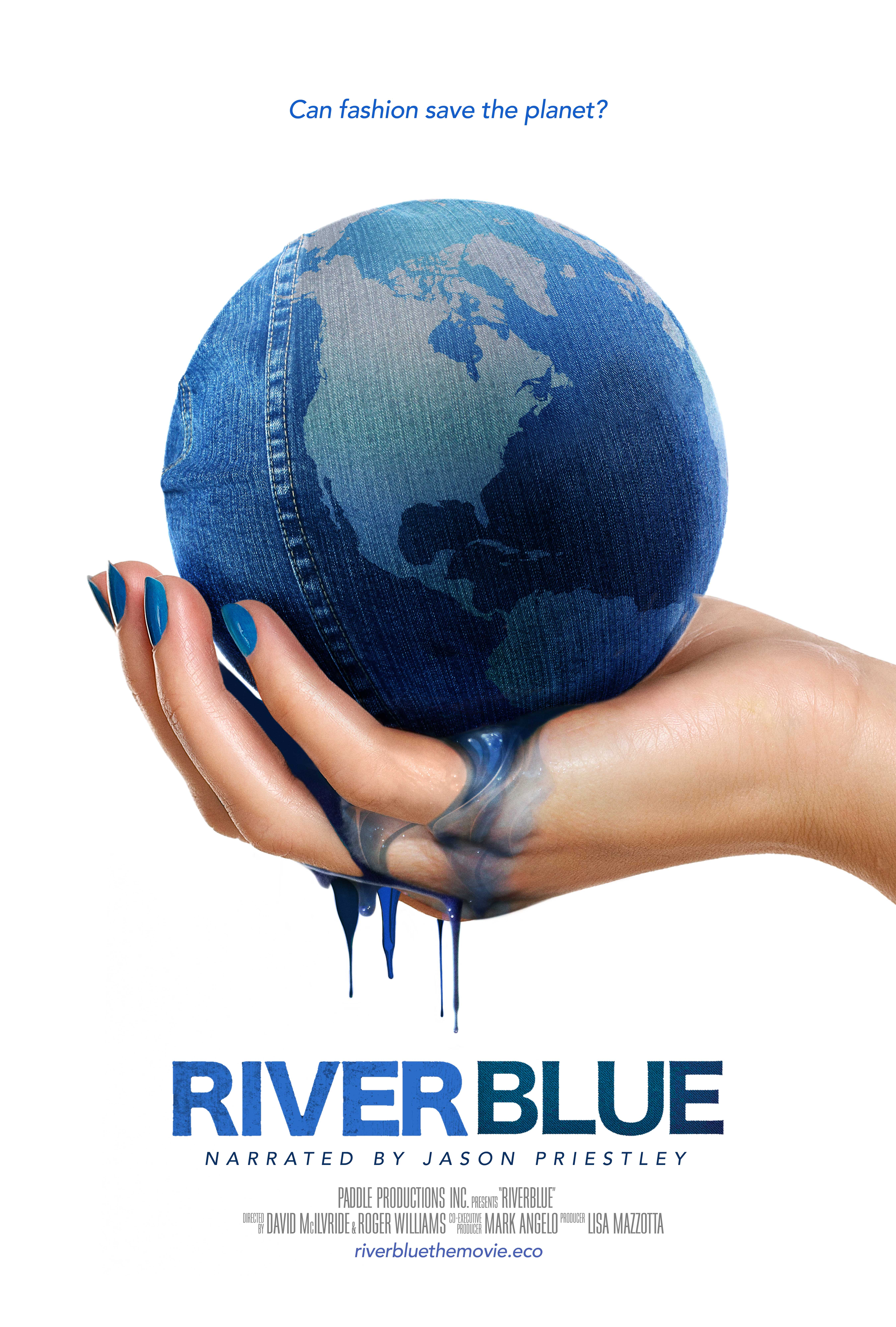 "Poster for ""River Blue"" by David McIlvride and Roger Williams."
