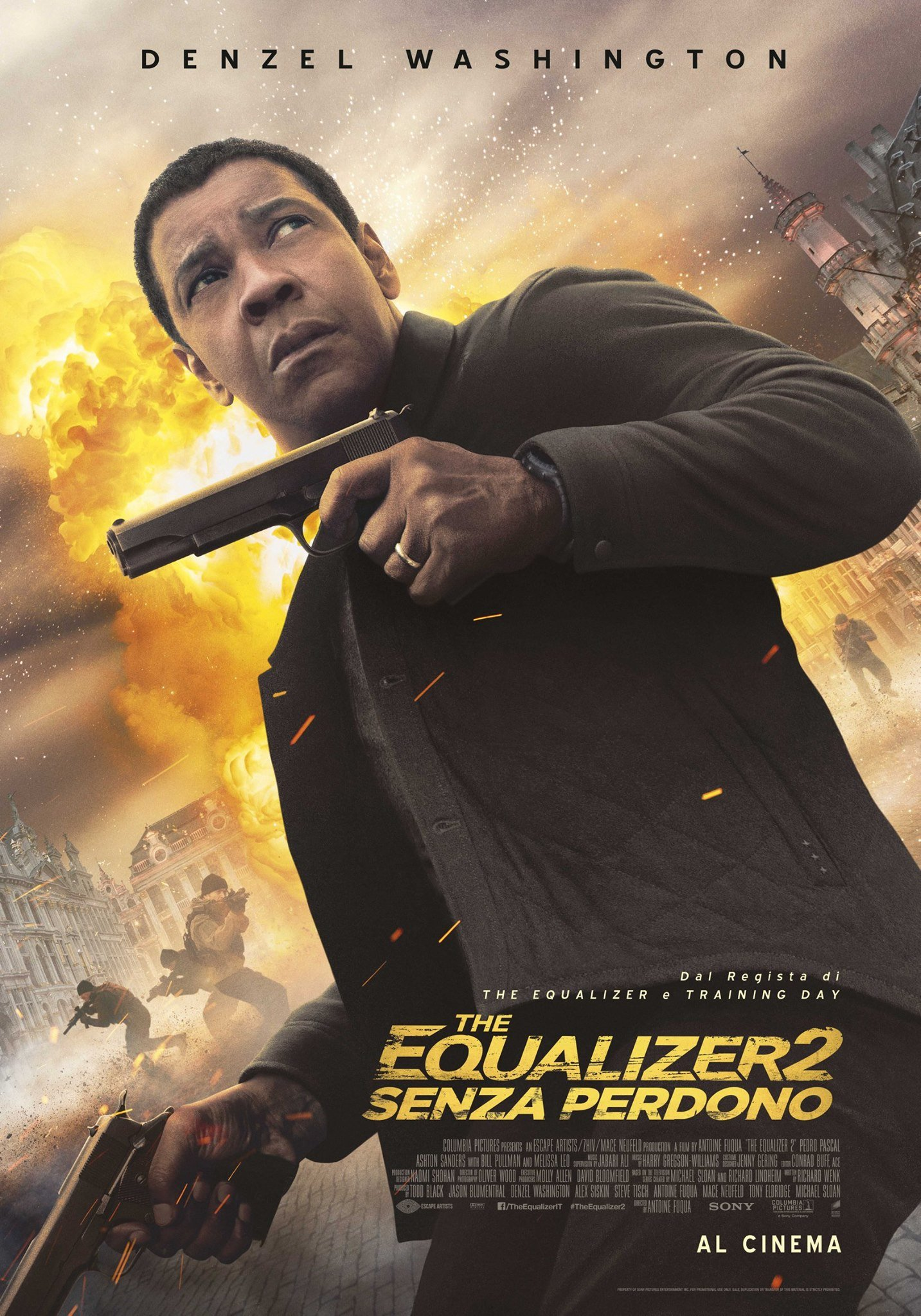 "Italian poster for ""The Equalizer 2"" directed by Antoine Fuqua"