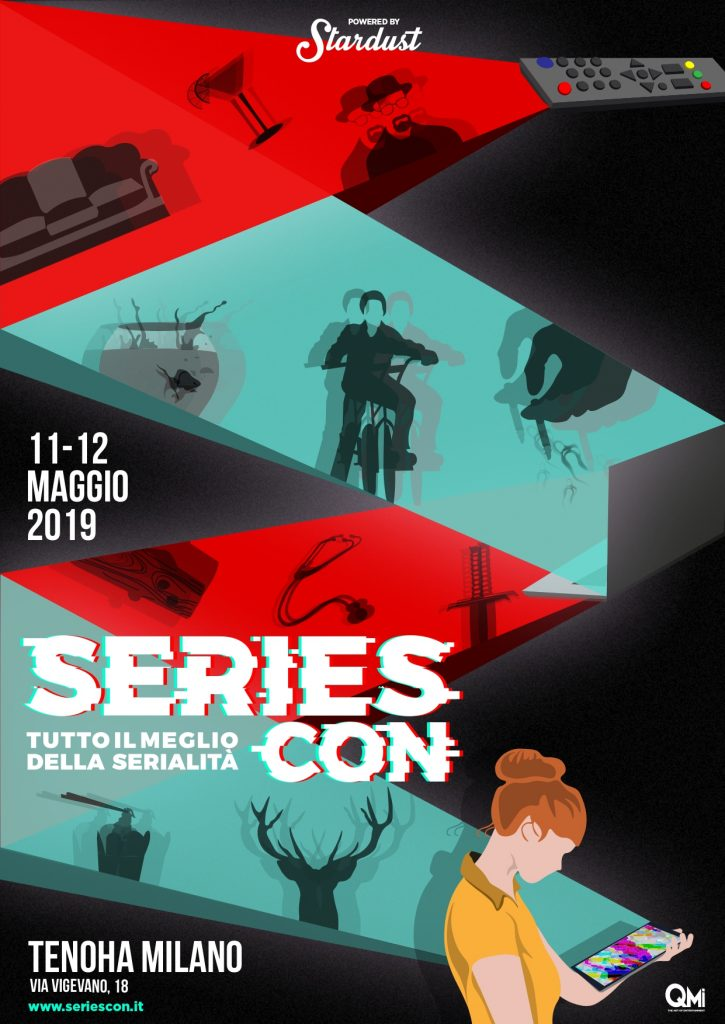 The Series Con poster by Andrea G. Borrelli, A.K.A. The Man Who Drew Too Much.
