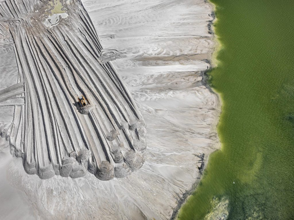 Phosphor Tailings Pond, near Lakeland, Florida, USA.